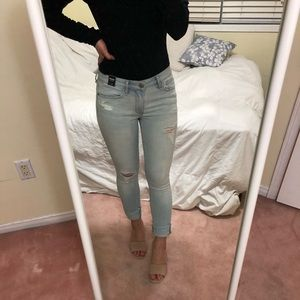 Brand new Light washed skinny Abercrombie jeans